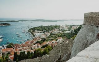 hvar fortress looking towards the Pakleni islands