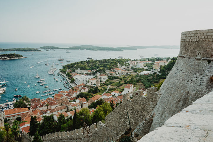 hvar fortress looking towards the Pakleni islands