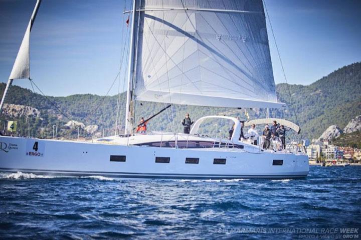 Monohull sailing yacht