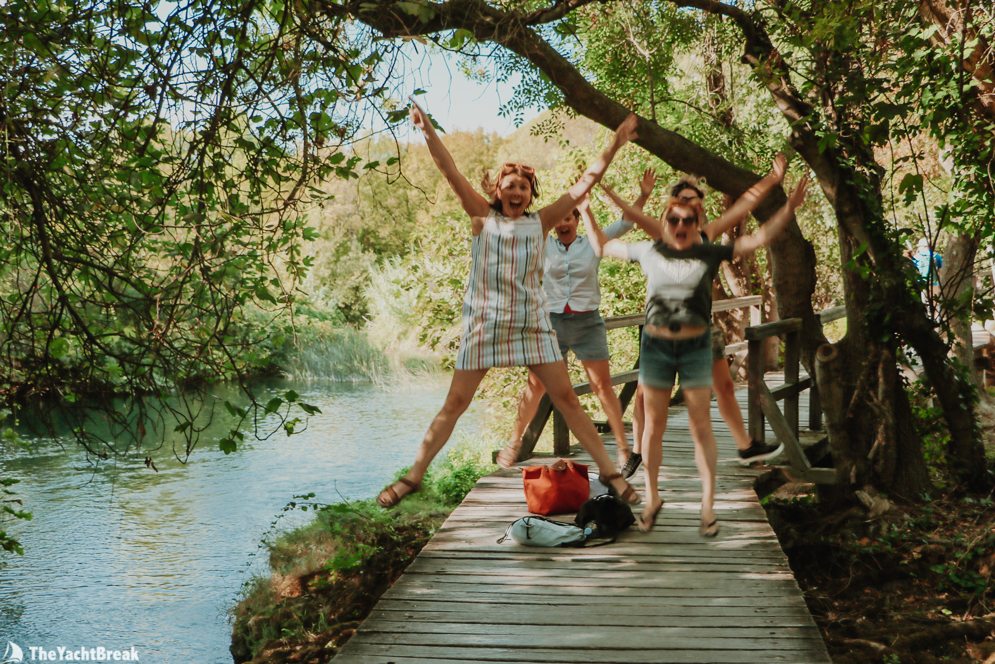 Girls visiting Krka on a getaway to Croatia