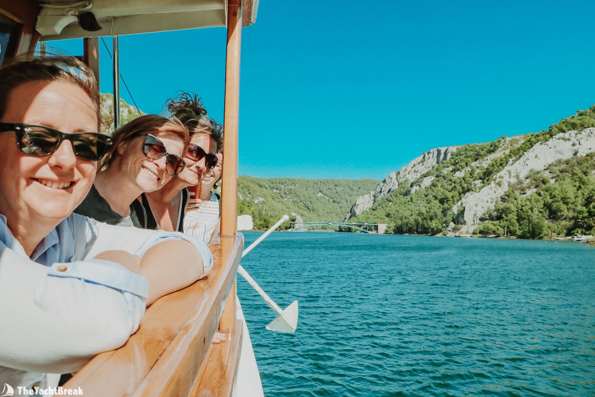 Ladies enjoying a sailing holiday in Croatia