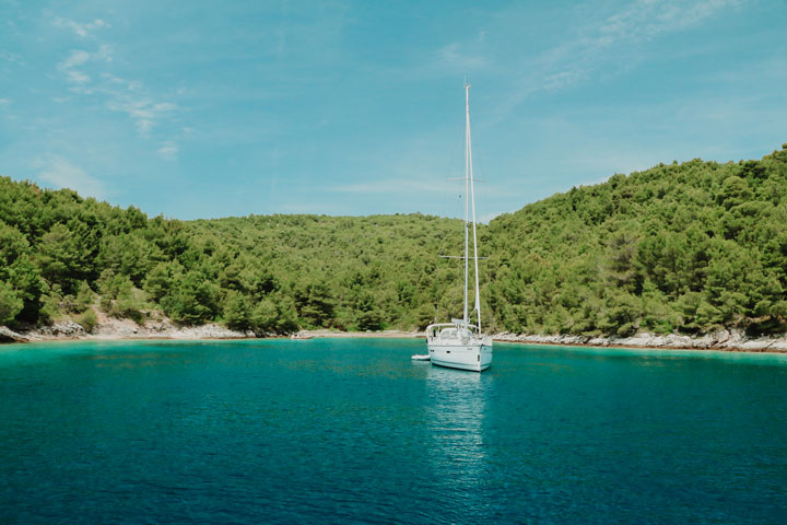 Remote bay in Croatia is perfect for Post COVID travel